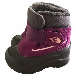 North Face purple Toddler Snow Boots size 5